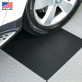 BlockTile Garage Flooring Interlocking Coin Top Tiles (Pack of 30) (Option: Black)