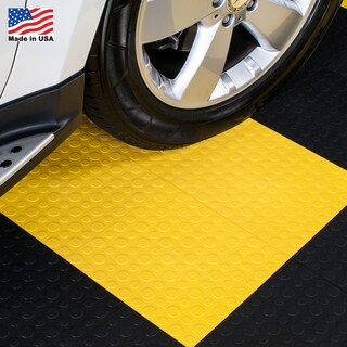 BlockTile Garage Flooring Interlocking Coin Top Tiles (Pack of 30) (Option: Yellow)