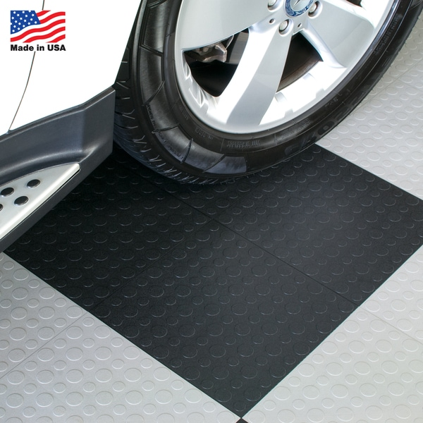 Blocktile Garage Flooring Interlocking Coin Top Tiles