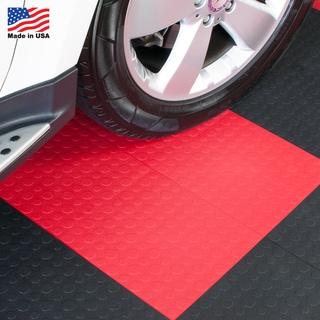 BlockTile Garage Flooring Interlocking Tiles Coin Top - (30 Pack)