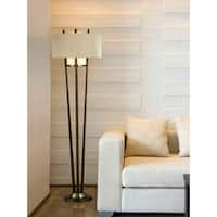 'Veld' Contemporary Metal Beige Shade Floor Lamp