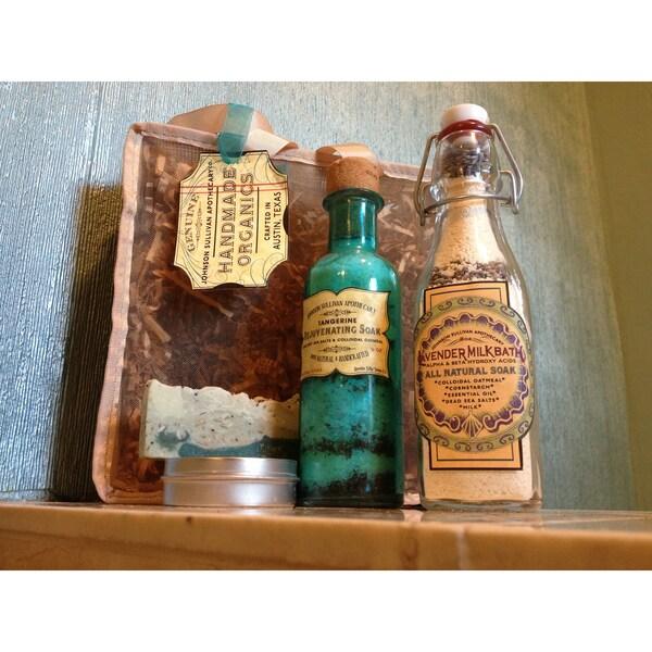 Apothecary Lavender Milk Bath & Tangerine Mineral Soak Travel Set