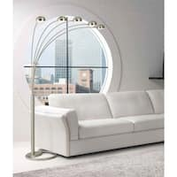 'Mushroom' 5-light Contemporary Silver Arc Floor Lamp