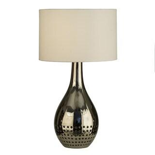 Nova Half Moon Table Lamp With White Shade Free Shipping