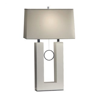 Earring Standing Table Lamp with Fabric Shade