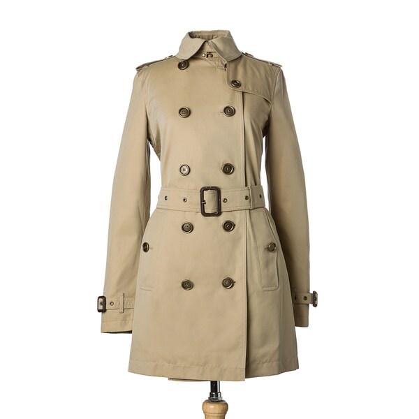 Burberry Prorsum Women's Honey Cotton Belted Trench Coat