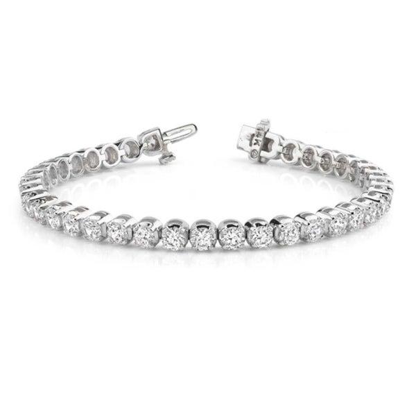 14k White Gold 4ct TDW Round Diamond Tennis Bracelet (G-H, VS1-VS2)