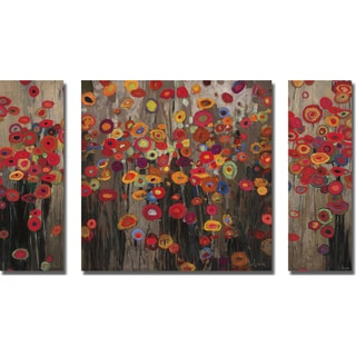 Don Li-Leger 'The Garden Parade' 3-piece Canvas Art Set