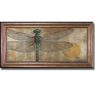 Patricia Pinto 'Dragonfly on Silver' Framed Canvas Art
