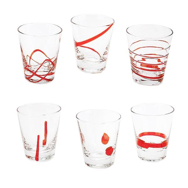 IMPULSE! Moody Red Shot Glasses (Set of 6)