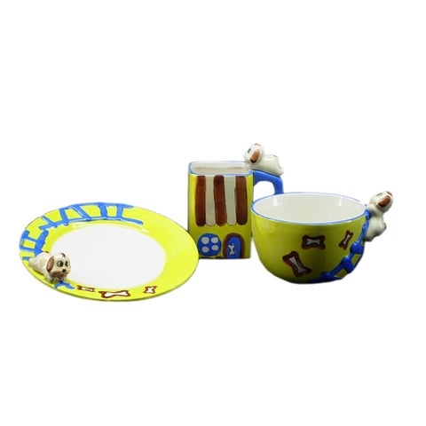 Threestar 'Puppy' 3-piece Fabulous Unique Kid Dining Set
