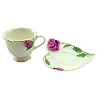Red Roses Coffee Cup and Saucers (Set of 6)