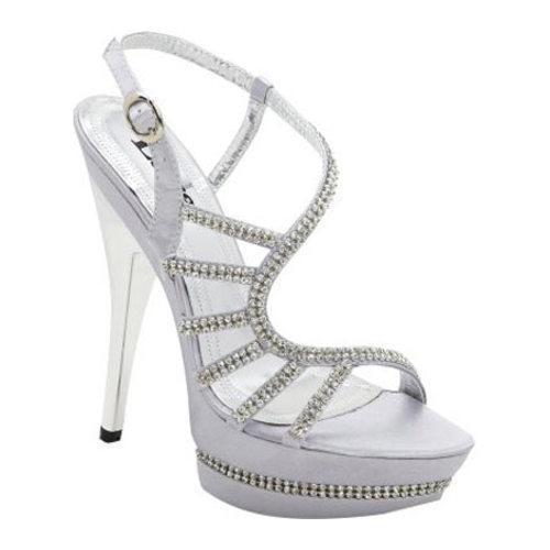 Women's Lava Shoes Donna Silver Satin