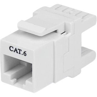 StarTech.com 180° Cat 6 Keystone Jack - RJ45 Ethernet Cat6 Wall J