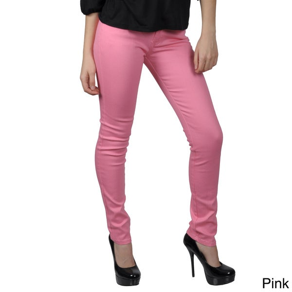 Hailey Jeans Co. Juniors Stretch Solid-Colored Skinny Jeans