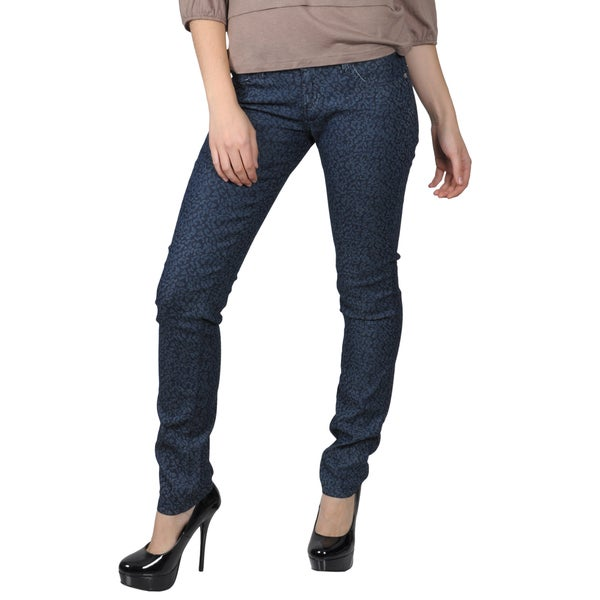 Hailey Jeans Co. Juniors Print Stretch Skinny Jeans