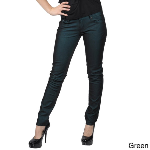 Hailey Jeans Co. Juniors Metallic Stretch Skinny Jeans