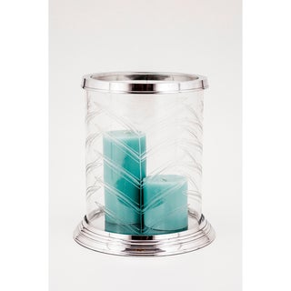 Hampton Hurricane Lamp Fern Cut Glass