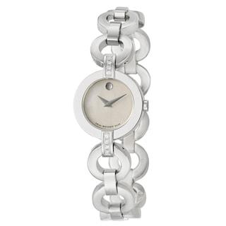 Movado Women's Stainless Steel 'Belamoda' Diamond Watch