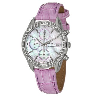 Seiko Women's Stainless Steel Chronograph Watch