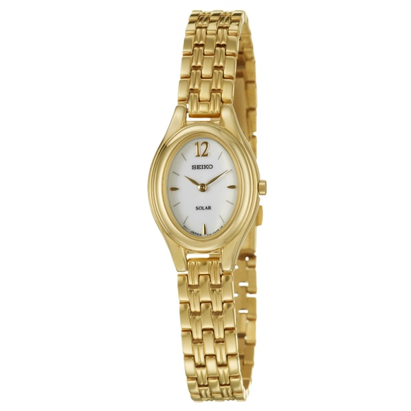 Seiko Women's Yellow-gold Plated Stainless Steel 'Solar' Watch