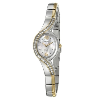 Seiko Women's SUP120 Yellow-gold Plated Steel 'Solar' Watch