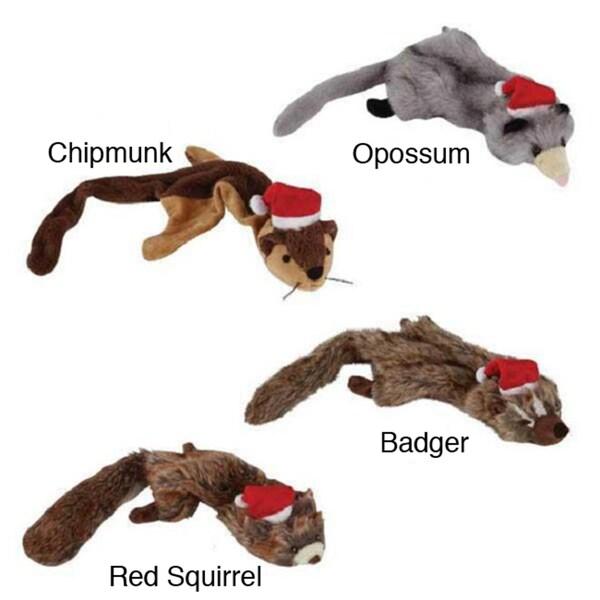 Zanies Holiday Unstuffie Pet Toys (Set of 4)