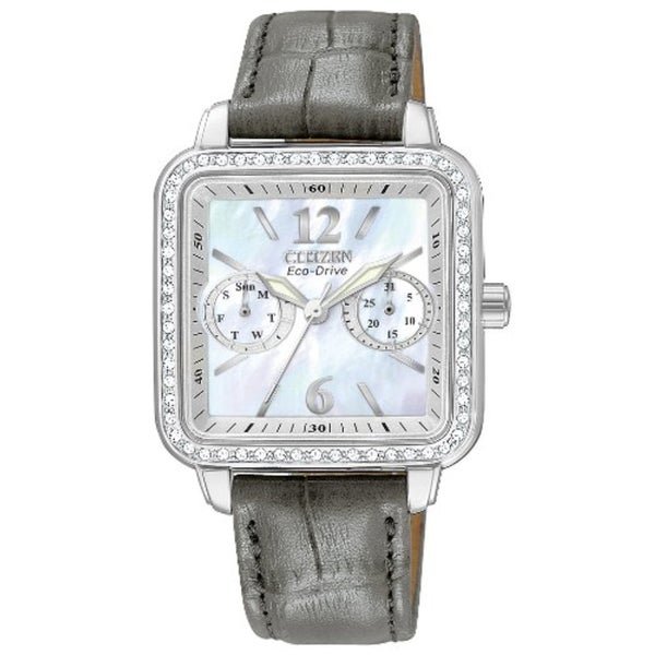Citizen Women's Stainless Steel Eco-Drive Silhouette Crystal Watch