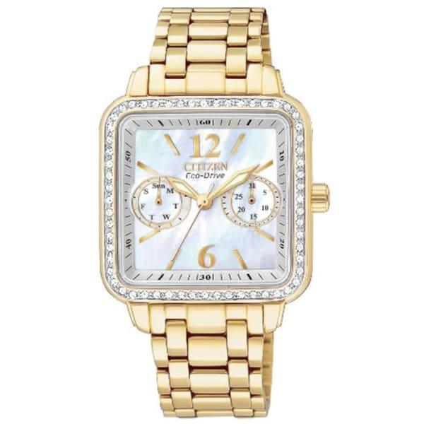 Citizen Women's Goldtone Eco-Drive Silhouette Crystal Watch