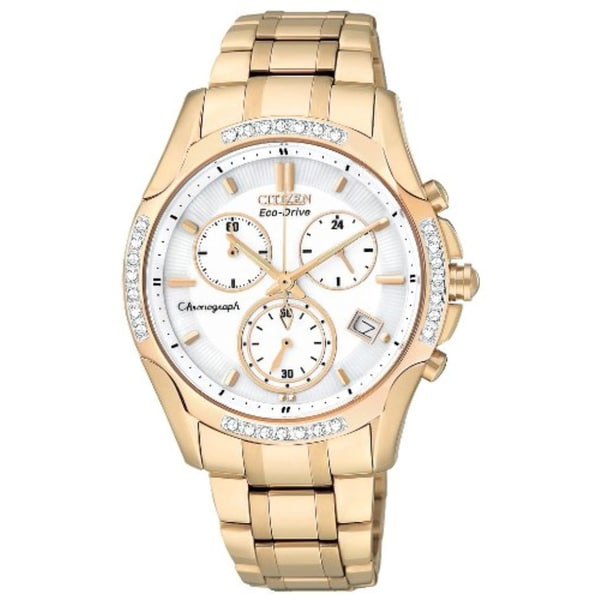 Citizen Women's Stainless Steel Eco-Drive Chronograph Watch