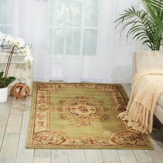 Nourison Chateau Light Green Wool Blend Rug (3'3 x 5'3)