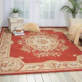 Nourison Chateau Rust Wool Blend Rug (3'3 x 5'3)