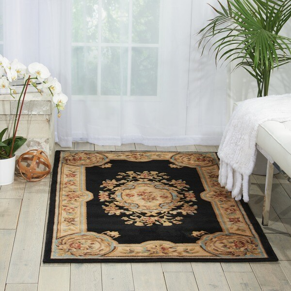 Nourison Chateau Black Wool-blend Rug (3 3 x 5 3)