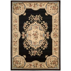 Nourison Chateau Black Wool-blend Rug (3�3 x 5�3)