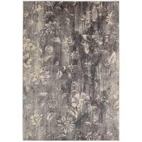 Nourison Utopia Floral Slate Rug (5'3 x 7'5) - 5'3 x 7'5