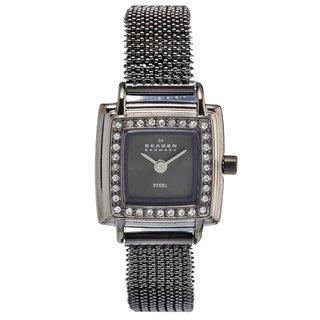 Skagen Women's Charcoal Stainless Steel Glitz Watch