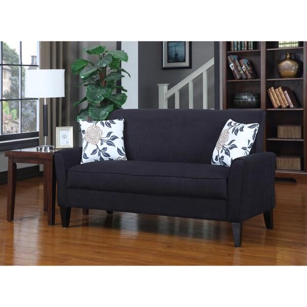 Portfolio Mason Black Microfiber Sofa