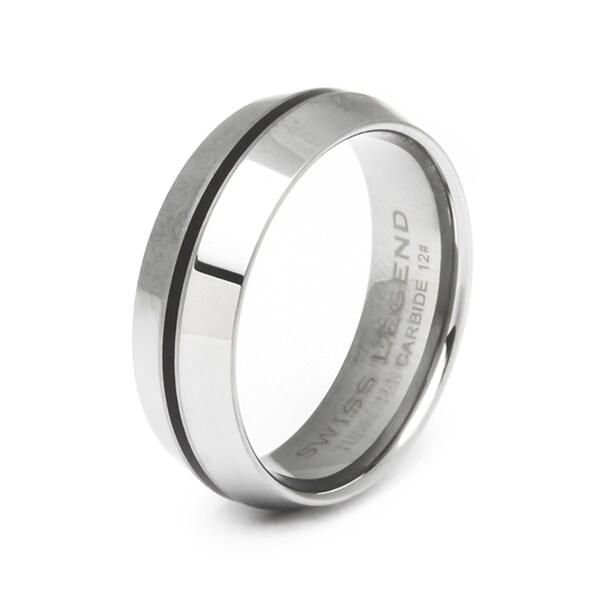 Swiss Legend Men's Domed Tungsten Carbide Ring
