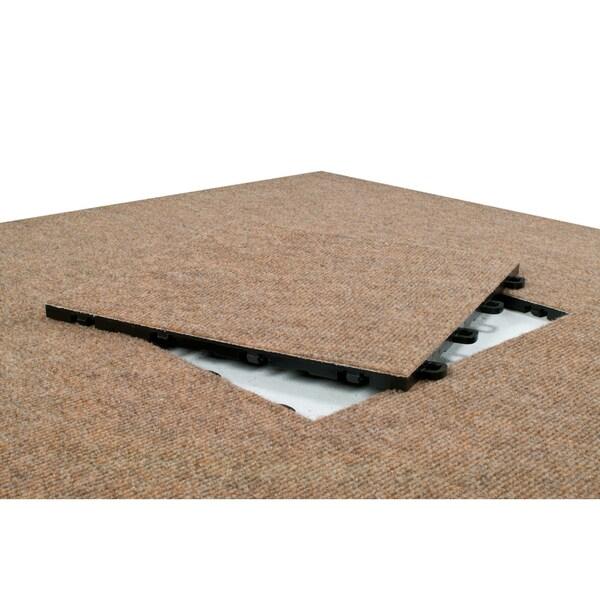 BlockTile Interlocking Carpet Tiles Winter Wheat (Pack of 25)