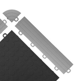 BlockTile Interlocking Ramp Edges with Loops (12 edges + 2 corner pack) (Option: Grey)