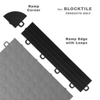 BlockTile Interlocking Ramp Edges with Loops (12 edges + 2 corner pack)
