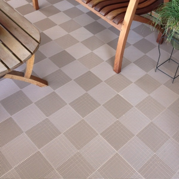 BlockTile Deck and Patio Flooring Interlocking Perforated Tiles