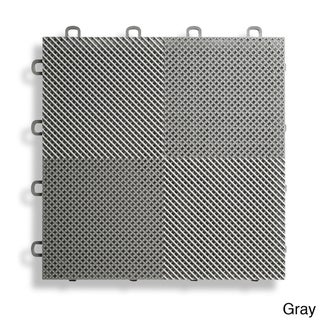 BlockTile Deck and Patio Flooring Interlocking Perforated Tiles (Pack of 30)