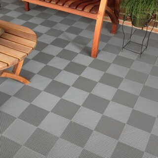 BlockTile Deck and Patio Flooring Interlocking Perforated Tiles (Pack of 30)