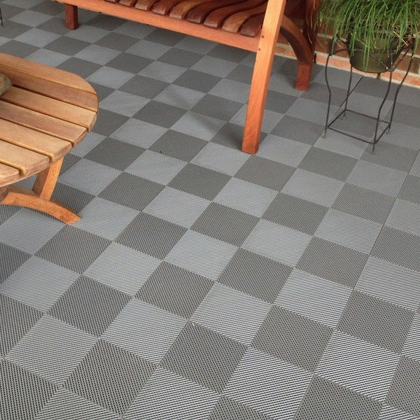 blocktile deck and patio flooring interlocking perforated tiles pack of 30 - Patio Flooring