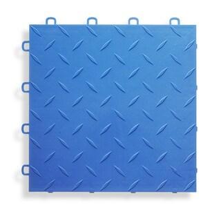BlockTile Garage Flooring Interlocking Diamond Top Tiles (Pack of 27) (Option: Royal Blue)