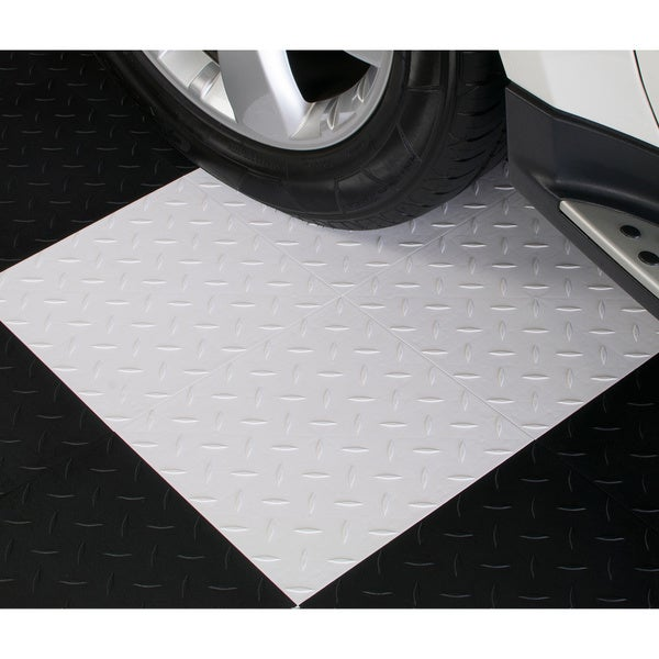 BlockTile Garage Flooring Interlocking Diamond Top Tiles (Pack of 27)