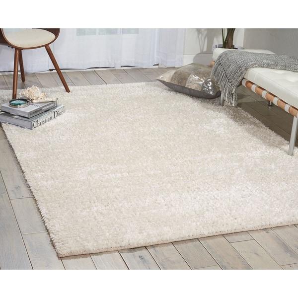 Nourison Fantasia Snow Shag Area Rug (8' x 11')