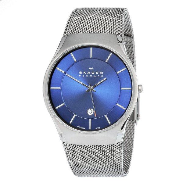 skagen men s titanium date watch shipping today overstock skagen men s titanium date watch
