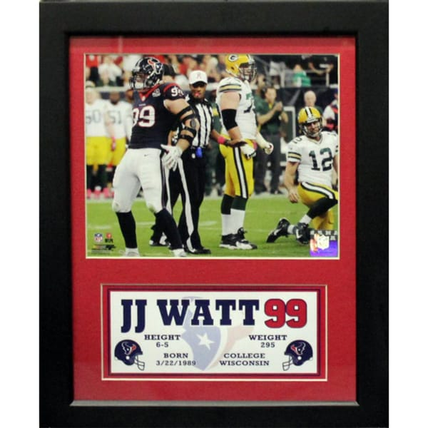 JJ Watt Houston Texans Deluxe Stat Frame (11 x 14)